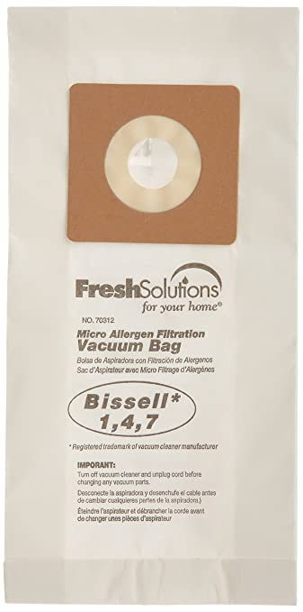 Amazon.com : Bissell 70312 Bissell 1, 4, 7 Micro Filtration Vacuum Bags, Qty 3 : Household Vacuum Bags Upright : Garden & Outdoor