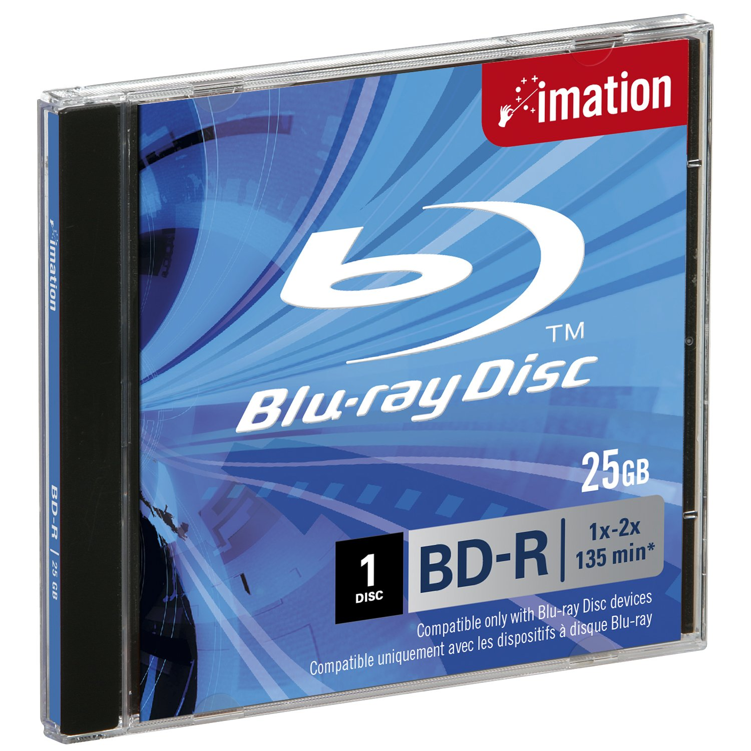 2X Bd-re Re-recordable Single Layer 25GB imation 26165