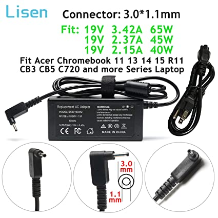 Amazon Com 65w 45w 40w Adapter Charger Power Cord For Acer