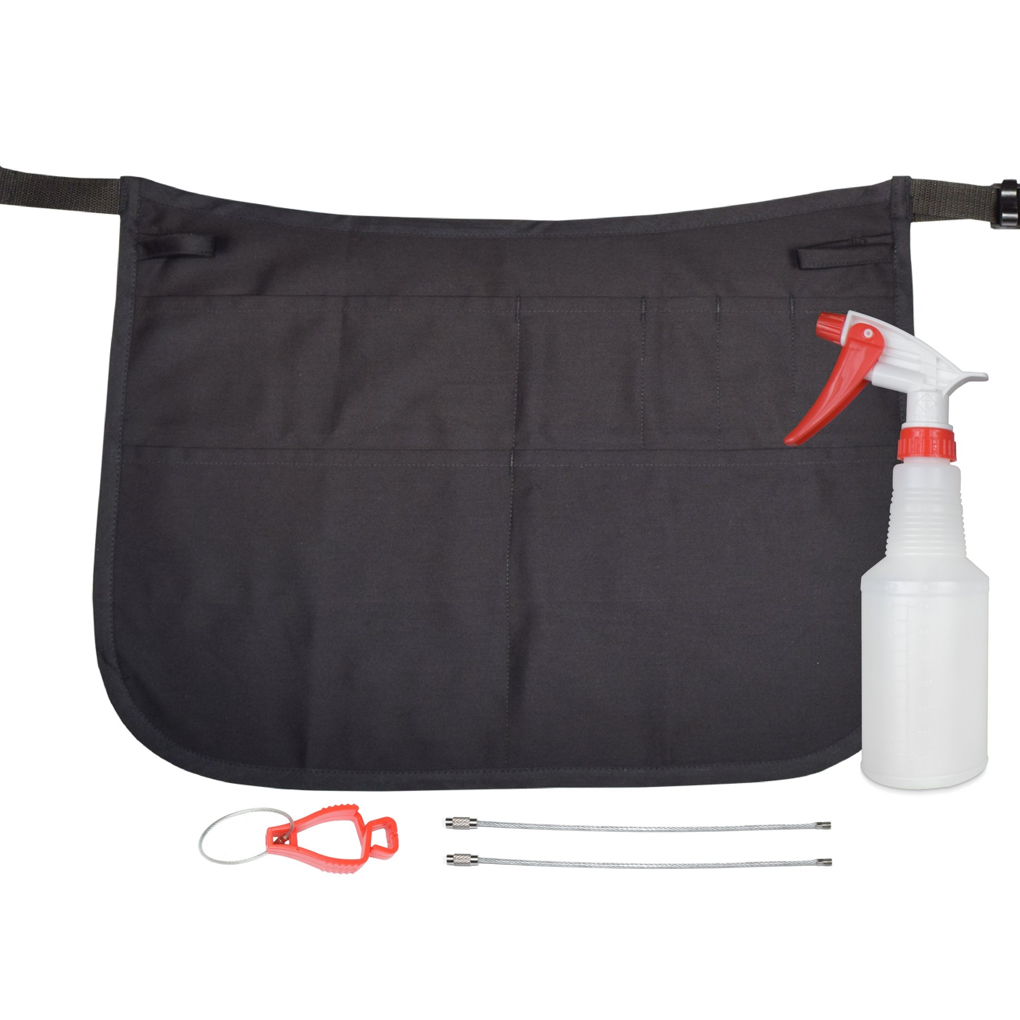 Professional Speed Cleaning Apron with 7 Pockets, Glove Holder, & Duster Holder - Speeds Up Cleaning, Saves Time