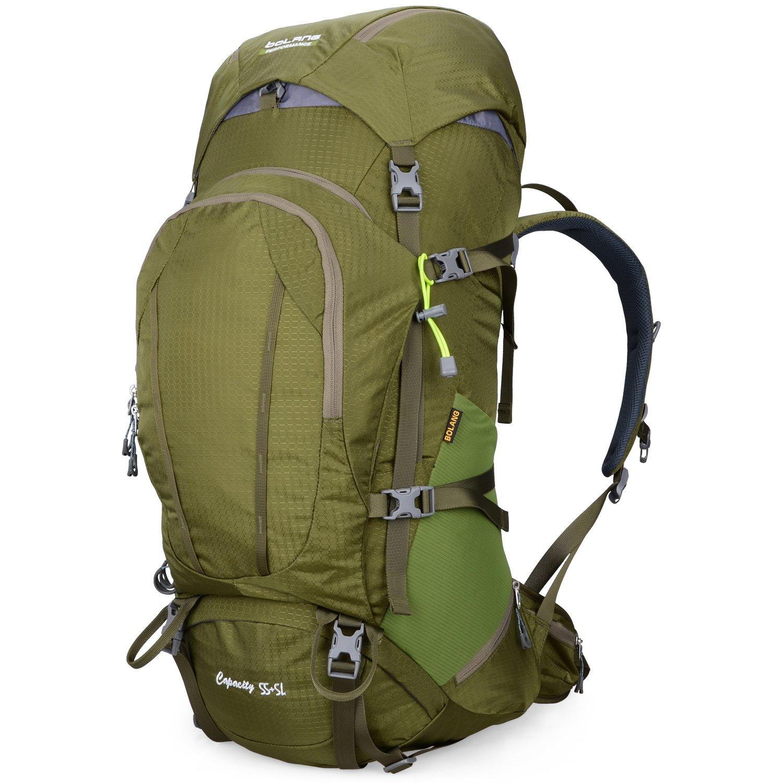 BOLANG Internal Frame Pack Hiking Daypack Outdoor Waterproof Travel Backpacks 55L
