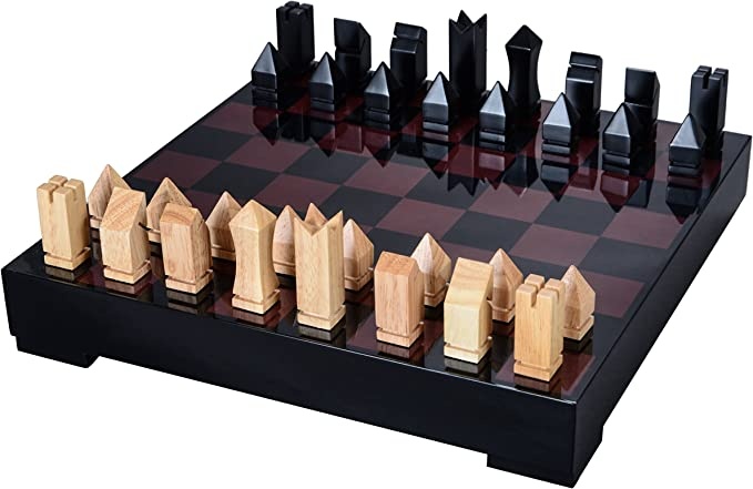CERASUS Wooden Non Magnetic High Gloss Finish Handcrafted Pieces Chess Board Game Set for Kids and Adults Exquisite Interior Decor Item for Home Decoration (Rosewood)