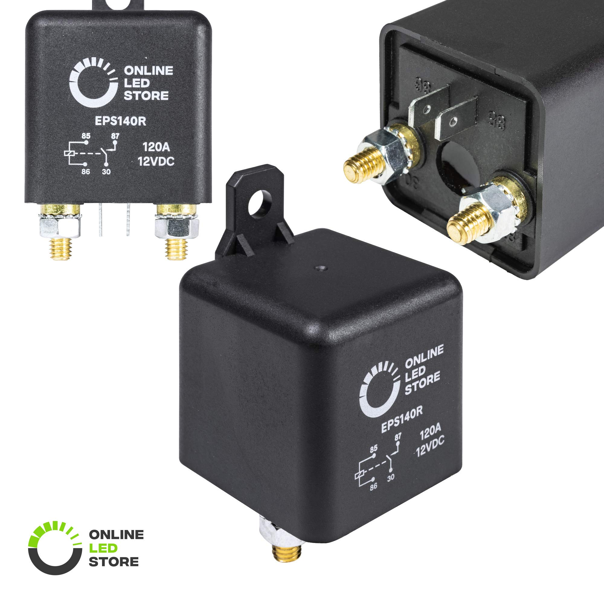 best rated in automotive replacement electrical system relaysonline led store 12v dc 120 amp split charge relay switch 4 terminal relays for