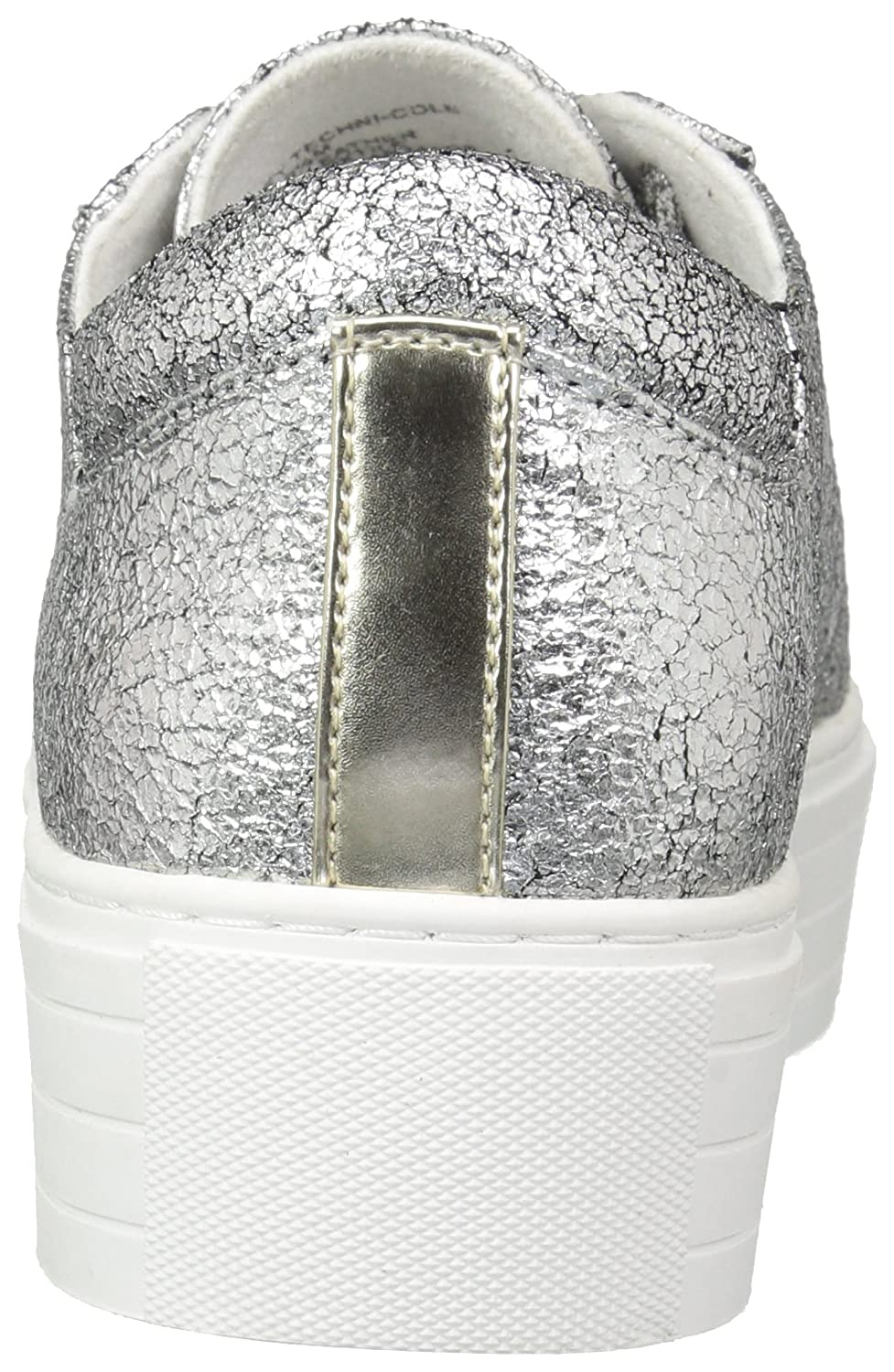 Kenneth Cole New York Women's Abbey Platform Lace up Metallic-Techni-Cole Sneaker B075LFTC7Y 8.5 B(M) US|Silver