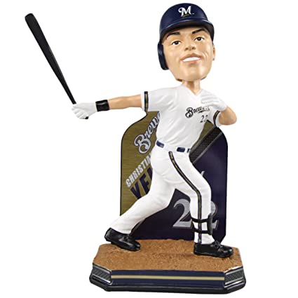 9422fe1bb66 Amazon.com   FOCO Christian Yelich Milwaukee Brewers Name and Number  Bobblehead   Sports   Outdoors