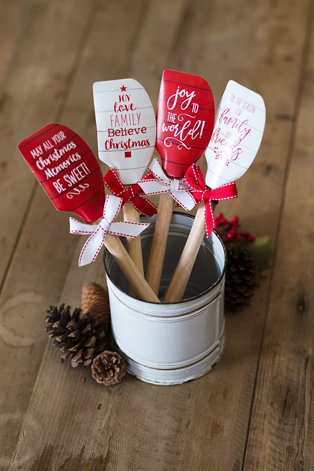 Silicone Spatula with Wooden Handle, Christmas Memories Be Sweet