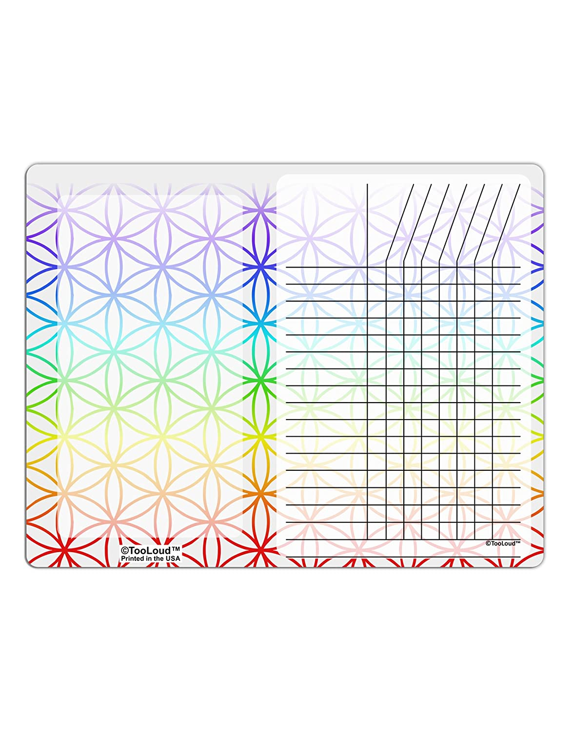 TooLoud Chakra Flower of Life on White Chore List Grid Dry Erase Board All Over Print