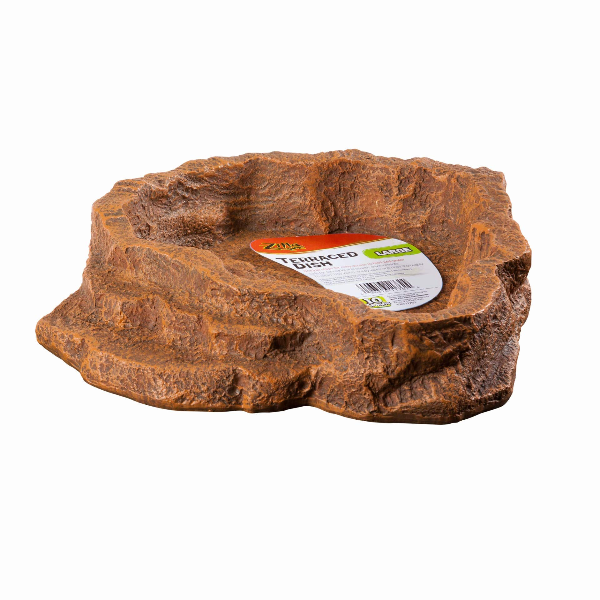 Zilla Reptile Terrarium Terraced Dish, Large (Colors Vary) by Zilla