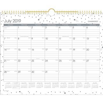 Cambridge W1199-707A-20 2019-2020 Calendario mensual de ...