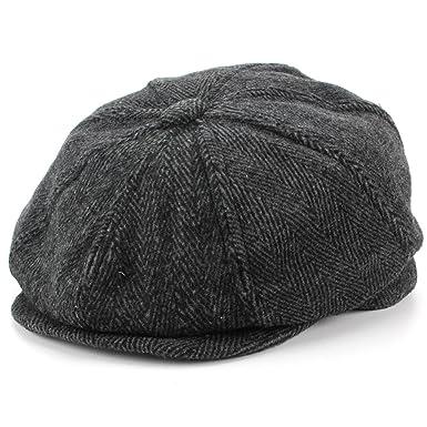 2f9125cfab882 Hawkins Wool Tweed Gatsby Newsboy 8 Panel Flat Cap Hat  Amazon.co.uk   Clothing