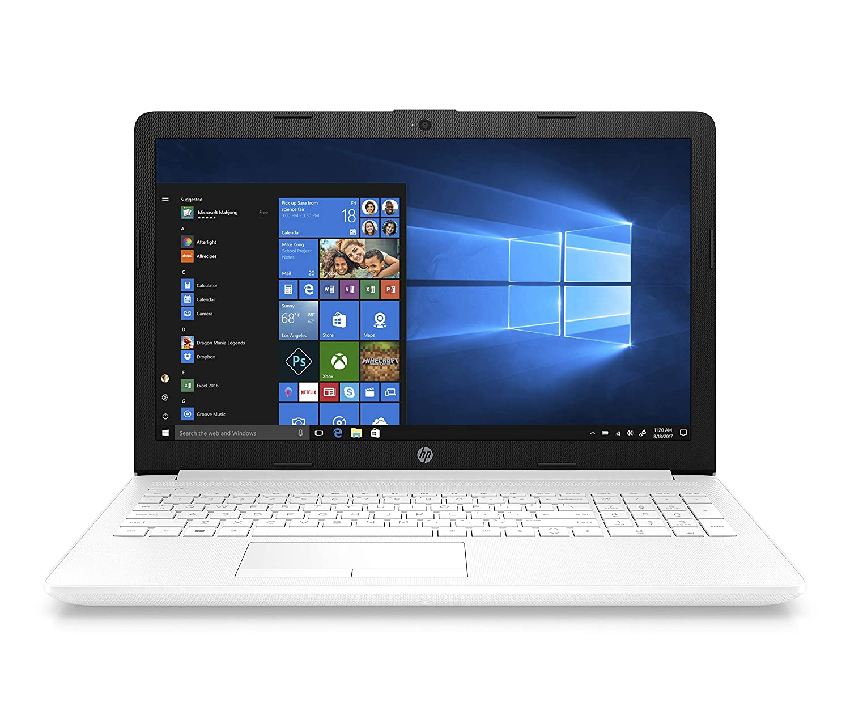 "HP Notebook 15-da0161ns - Ordenador portátil 15.6"" HD (Intel Core i3-7020U, 8GB RAM, 256GB SSD, Intel Graphics, Windows 10) Color Blanco - Teclado QWERTY Español"