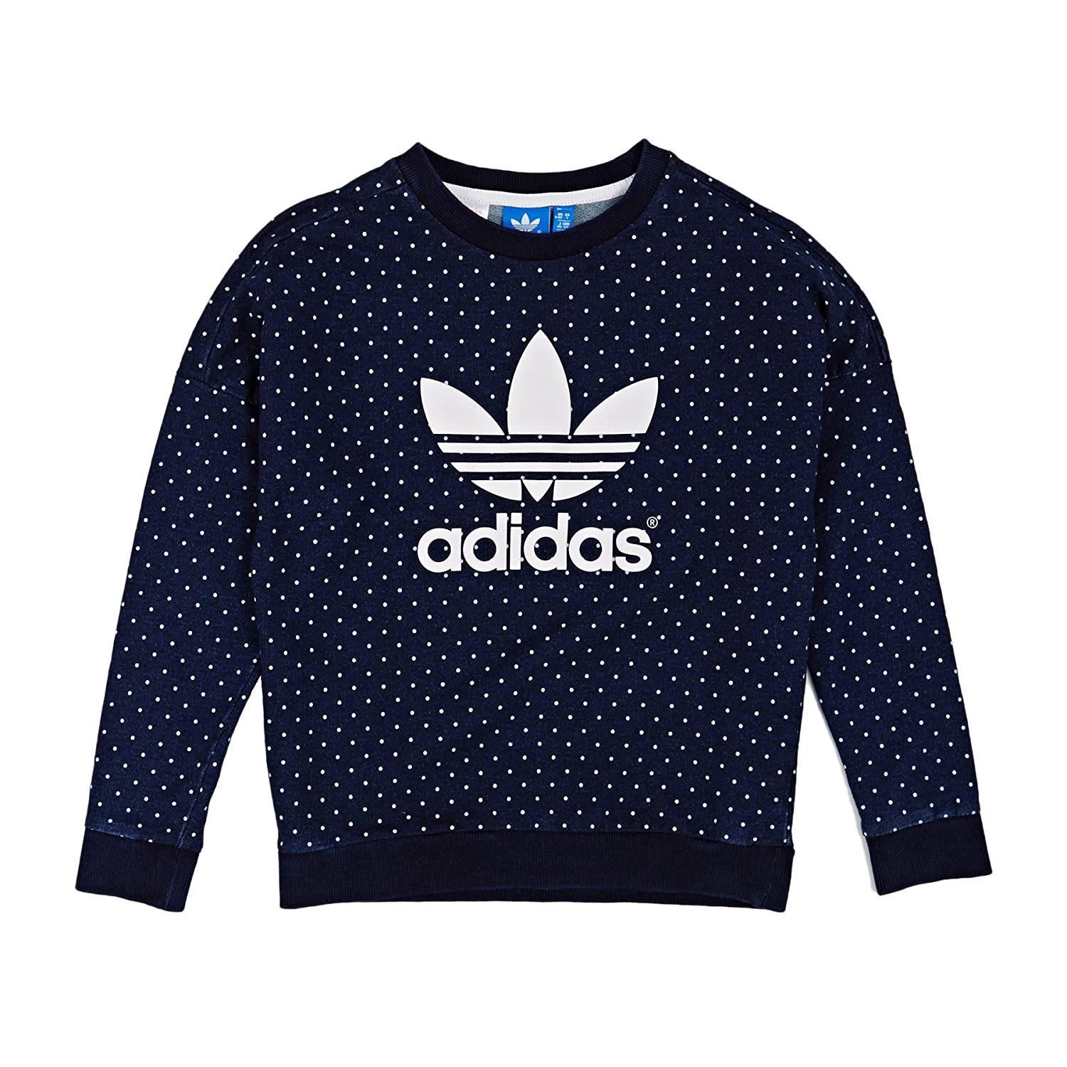adidas Originals Girls Junior Denim Crew Sweatshirt