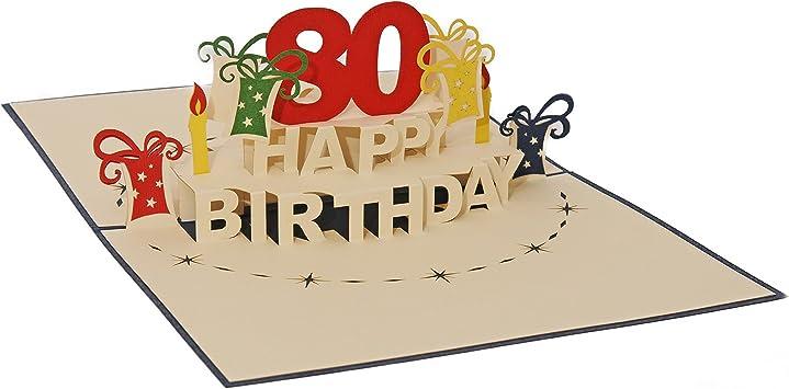 Rot Ein 12x17cm Favour Pop Up Glückwunschkarte zum runden 70 Geburtstag