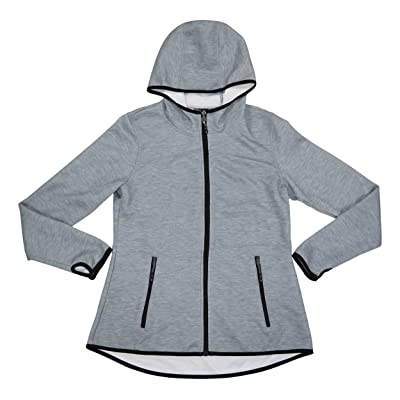 32 DEGREES Lightweight Full Zip Long Sleeve Hooded Jacket: Clothing