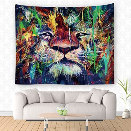 Amazon.com: Animal Wall Hanging Tapestry Wall Art Tapestries Mandala ...