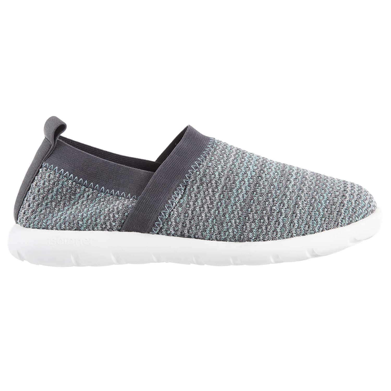 ISOTONER Zenz Women's Harmony Elastic Sport Knit Slipper, Slip-On Shoe