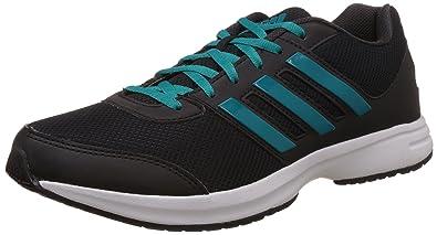 adidas Men's Ezar 2.0 M Black, Green and Dark Grey Mesh Running Shoes - 9