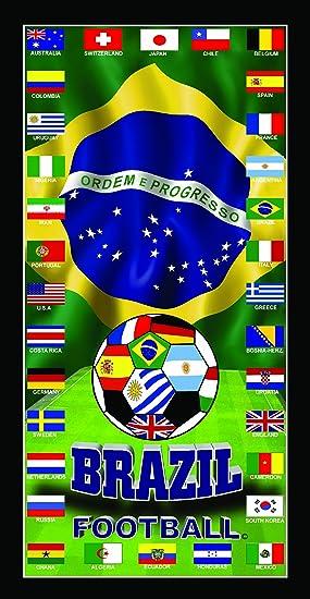 México y Ecuador Copa Mundial de Fútbol Bandera del equipo de fútbol Copa del Mundo 2014 Fútbol Wonder toalla de playa: Amazon.es: Hogar