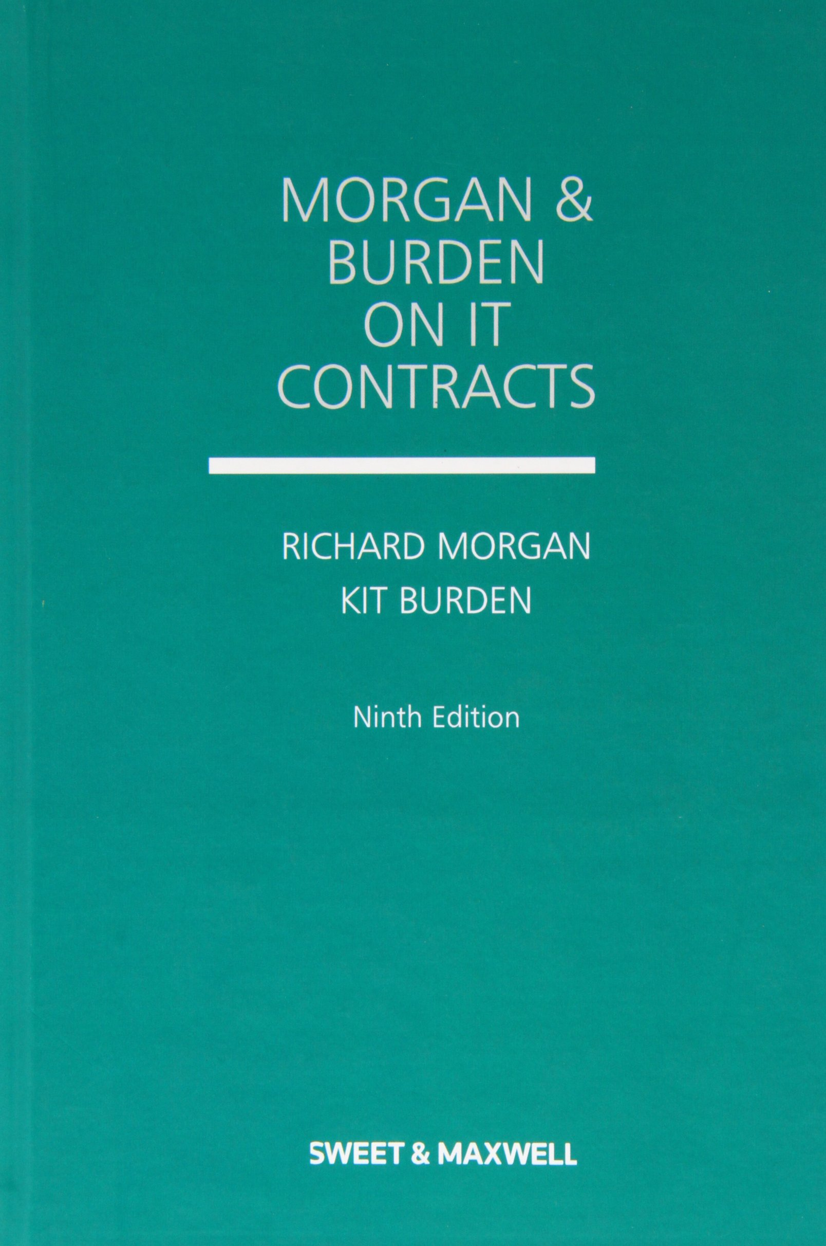 Read Online Morgan and Burden on IT Contracts PDF