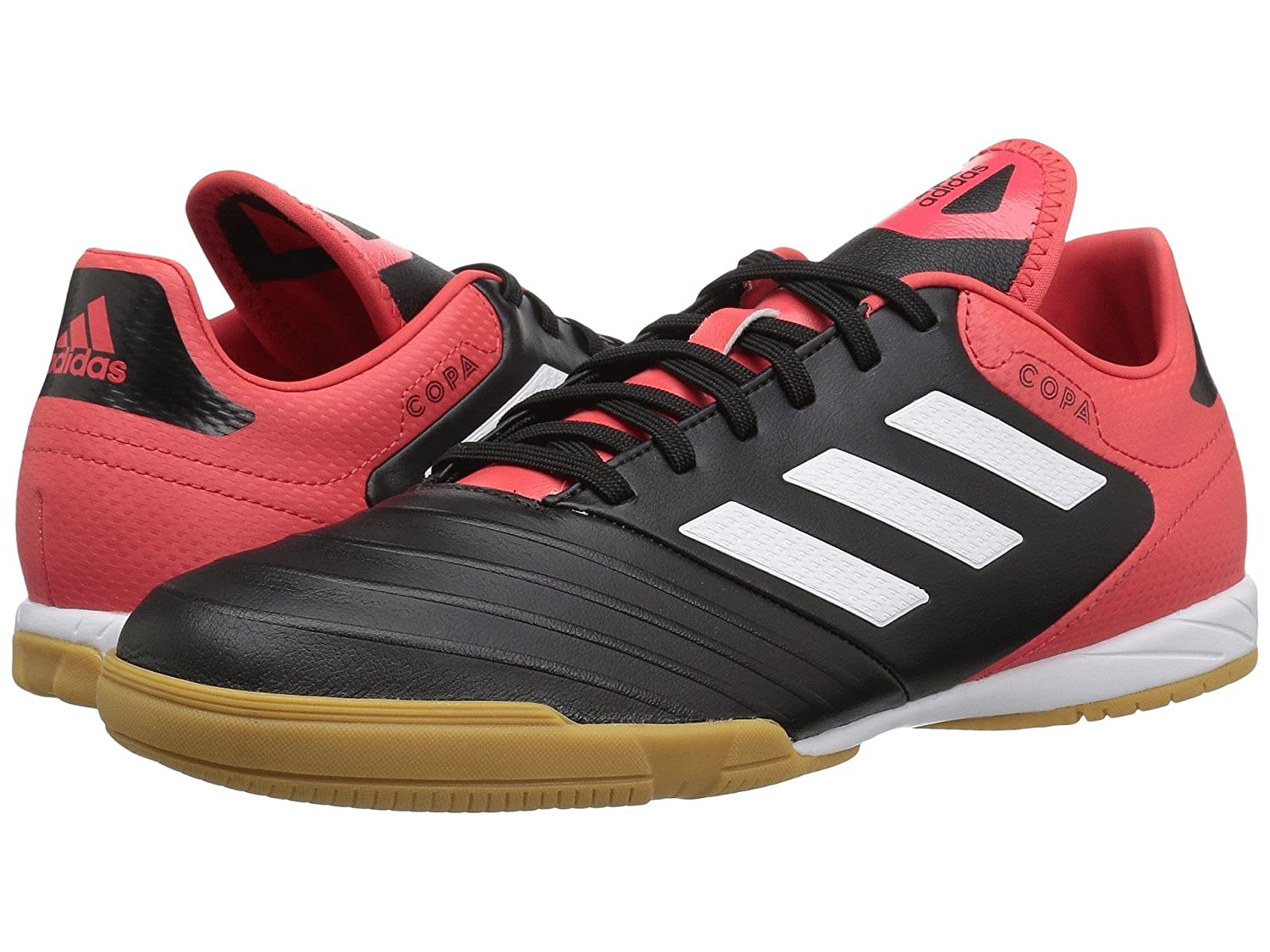 (アディダス) adidas メンズサッカーシューズ靴 Copa Tango 18.3 Indoor Black/White/Real Coral 9.5 (27.5cm) D Medium B07BQKWS48