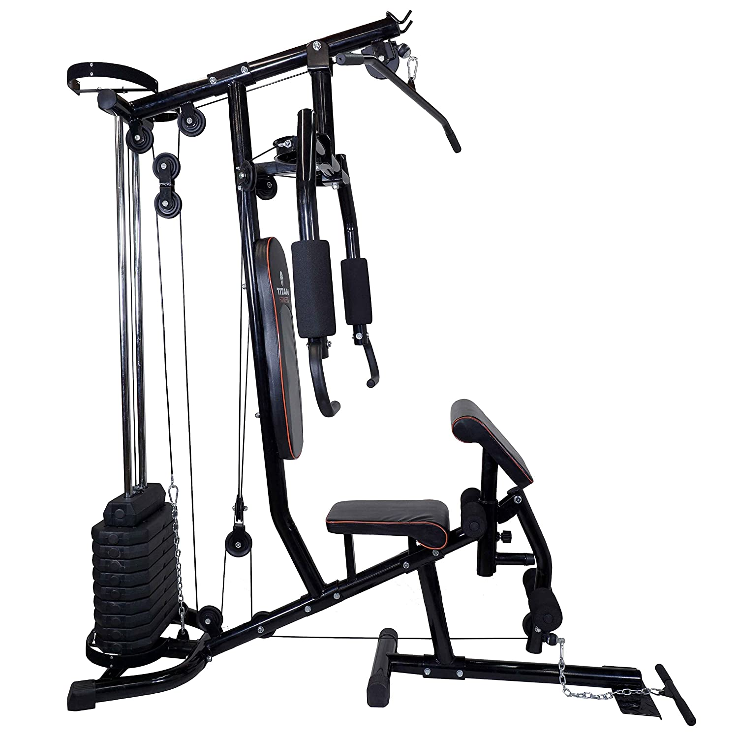 Amazon titan 150 lb stack home gym total fitness strength amazon titan 150 lb stack home gym total fitness strength equipment exercise sports outdoors pooptronica Image collections