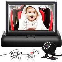 Shynerk Baby Car Mirror, 4.3'' HD Night Vision Function Car Mirror Display, Safety Car Seat Mirror Camera Monitored…