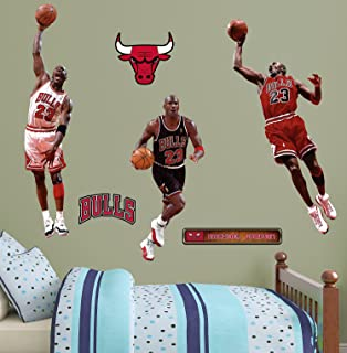 NBA Chicago Bulls Michael Jordan Hero Pack Fathead Real Big Decals, 4u00274 Part 95