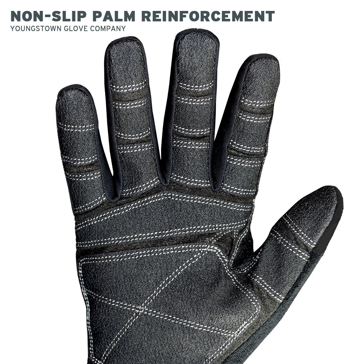 Gray Youngstown Glove 04-3070-70-S Mesh Utility Plus Performance Glove Small