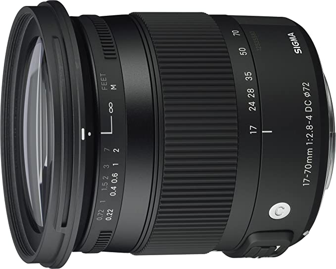 Sigma 17-70mm f/2.8-4 DC Macro OS HSM Contemporary For Canon Camera Lenses at amazon
