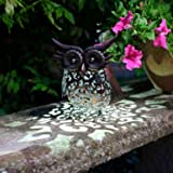 Smart Garden Metal Scroll Owl Solar Light