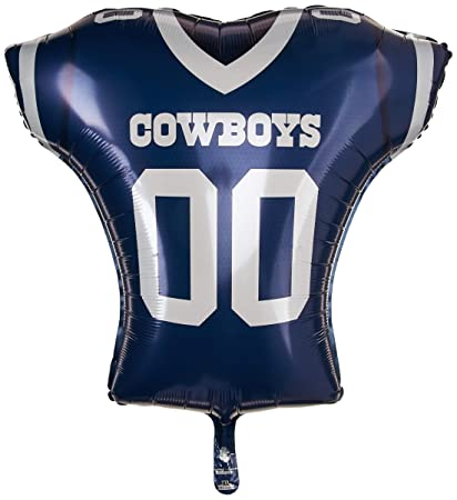 official photos b56b8 9fb77 Anagram 26194 NFL Dallas Cowboys Football Jersey Foil Balloon, 24
