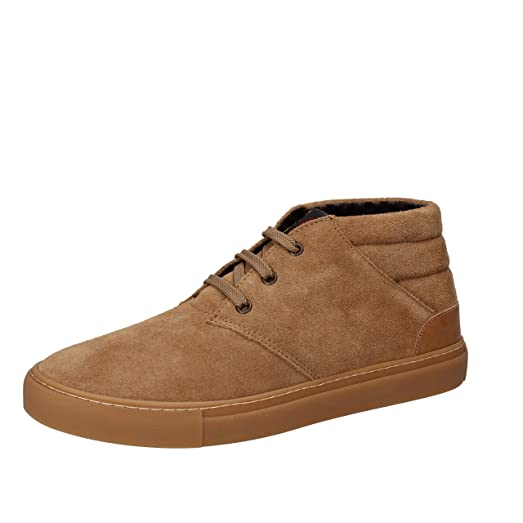 Boots for Men, Booties On Sale, Brown, Suede leather, 2017, 7 Wally Walker