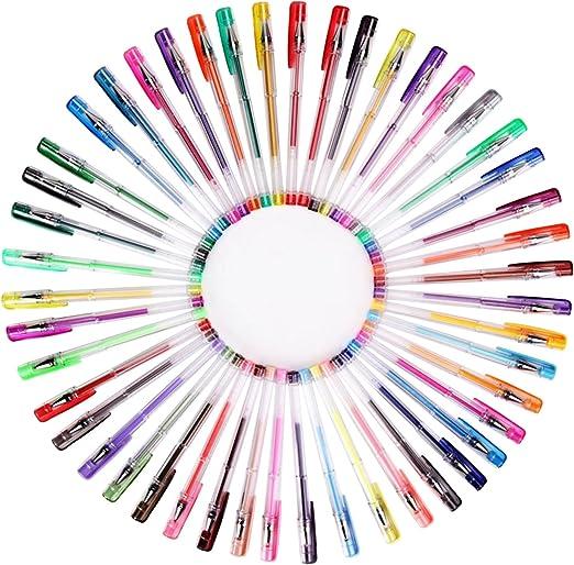 Multicolore-Glitter Umitive 100 Penne Gel Colorate Glitter Swirl e Glitter-neon Per Adulti Colorare Libri Disegnare e scrivere Metallizzati,Classici Pastello,Neon Inchiostro Gel,Brillantini
