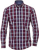 CasaModa - Herren Freizeit Karo Hemd langarm rot blau weiss Casual-Fit