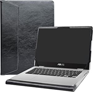 """Alapmk Protective Case Cover for 14"""" ASUS Chromebook C423NA c423na-dh02 & ACER Swift 3 14 SF314-55 SF314-55g SF314-56 Laptop(Note:Not fit Swift 3 SF314-51 SF314-57 SF314-52 SF314-53),Black"""
