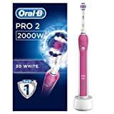 Oral-B Pro 2000/Pro 2 2000W 3DWhite Electric Toothbrush Rechargeable Powered by Braun (packaging may vary) (UK 2-Pin Bathroom Plug)