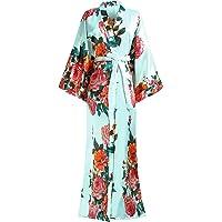 Coucoland Morgonrock för damer sommar blommor mönster badrock lång brudtärna kimono rock nattkläder damer sovrock flicka…