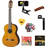Yamaha CG192 Solid Top Classical Guitar, Natural, with Legacy Accessory Bundle, Many Choices