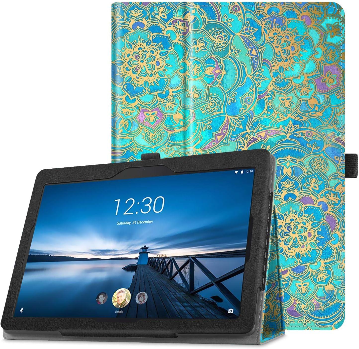 Fintie Case for Lenovo Tab 4 10 / Tab 4 Plus 10 / AT&T Lenovo Moto Tab/TAB E10 TB-X104F 10.1-Inch Tablet - Premium PU Leather Folio Stand Cover with Auto Sleep/Wake, Shades of Blue