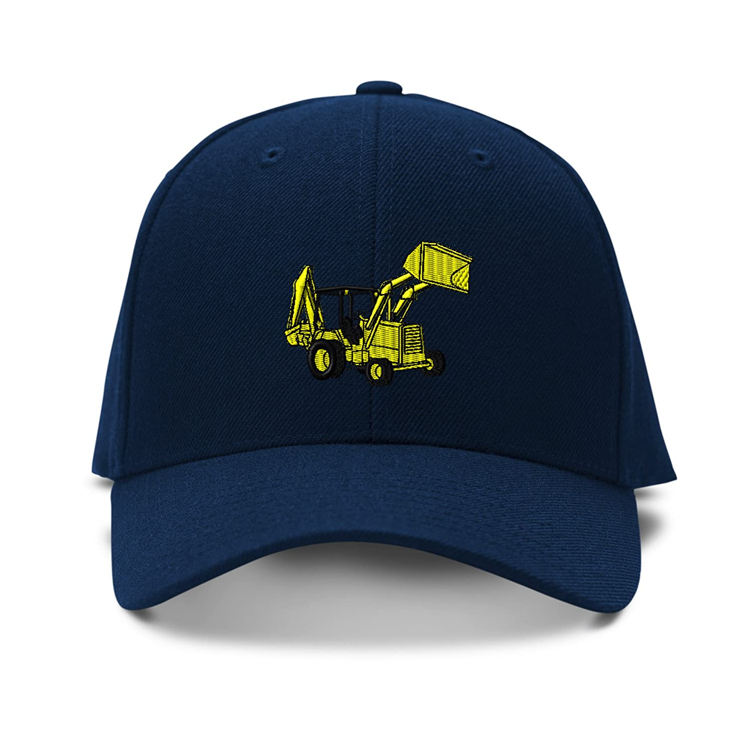 Backhoe Loader Construction Embroidered KID CHILDREN SIZE Adjustable Cap Hat KCAPVEEQ0045_N