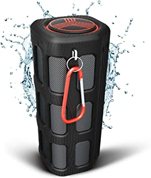TREBLAB FX100 - Extreme Bluetooth Speaker - Loud, Rugged for Outdoors, Shockproof, Waterproof IPX4, Built-in 7000mAh Power Bank, FM Radio, HD Audio w/Deep Bass, Portable Wireless Speaker with Mic