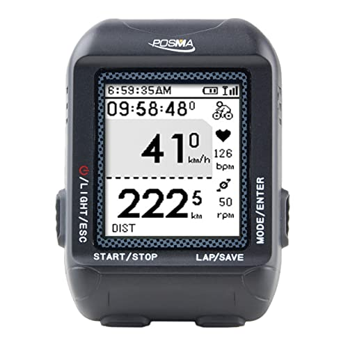 POSMA D3 GPS Cycling Bike Computer Speedometer Odometer Navigation, ANT+ Support STRAVA MapMyRide