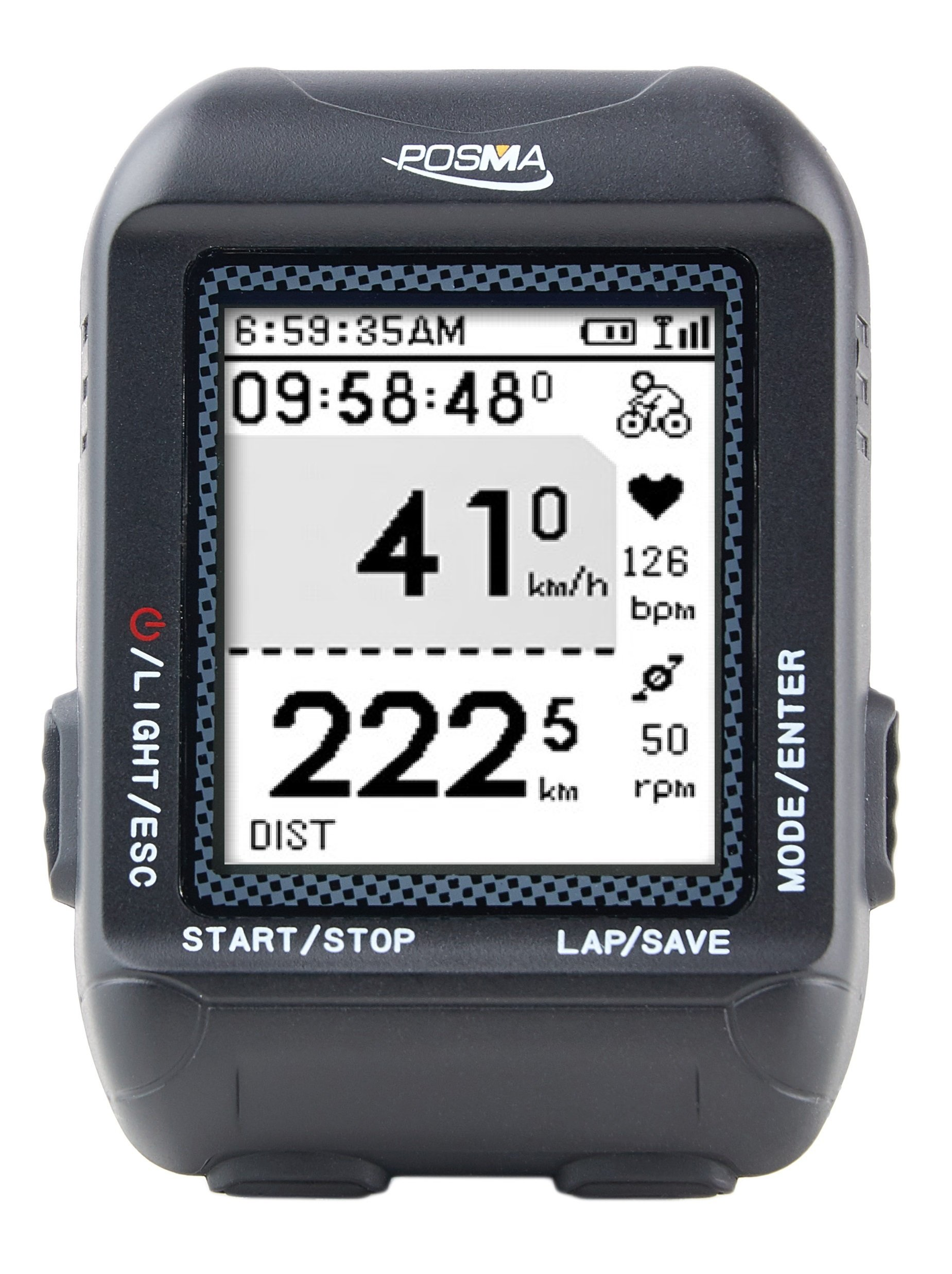 POSMA D2 GPS Wireless Cycling Bike Computer Speedometer Odometer with Navigation, ANT+ connection, support GPX file upload to STRAVA and MapMyRide