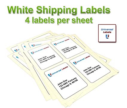amazon com 400 universal labels heavyweight shipping labels 4