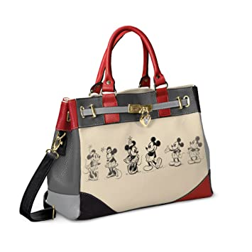 größter Rabatt strukturelle Behinderungen gut aussehend Designer Disney Mickey Mouse And Minnie Mouse Love Story Handbag with a  locket-style heart charm featuring a Mickey Mouse silhouette by The  Bradford ...
