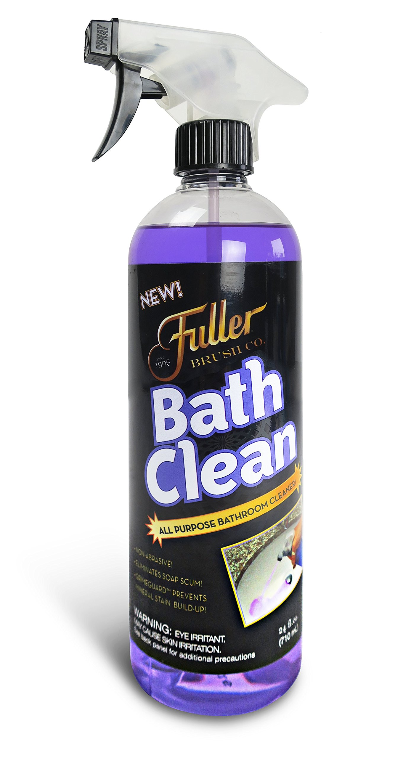 Fuller Brush Bath Clean - Dissolves Tough Soap Scum & Hard Water Stains - Contains Grimegaurd - 24 oz by Fuller Brush