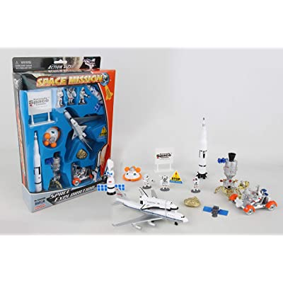 Space Mission 16 Piece set w/ Kennedy Space Center Sign: Toys & Games