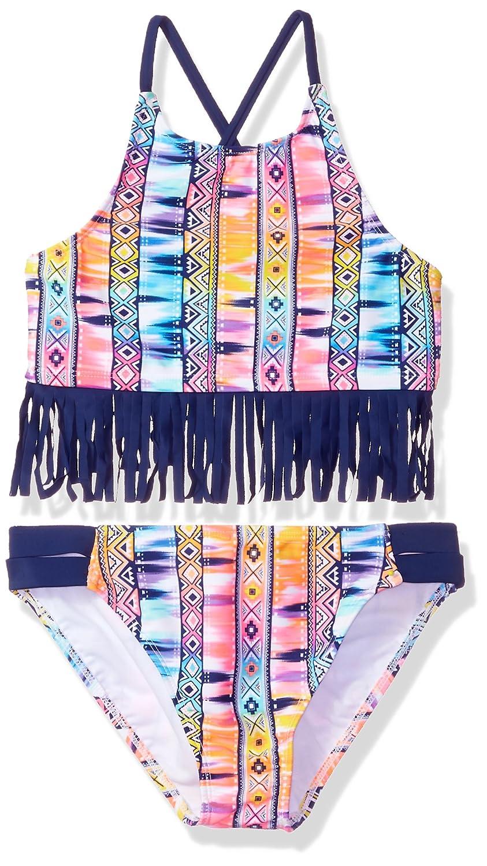 Angel Beach Big Girls Fringe Tribal Print Bikini Swim Set AB187135