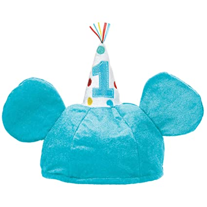 Image Unavailable Not Available For Color Amscan 1st Birthday Mickey Mouse Fabric Hat
