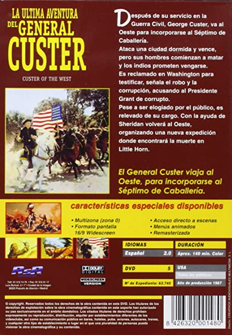 La Última Aventura del General Custer [DVD]: Amazon.es: Robert Shaw, Jeffrey Hunter, Robert Ryan, Robert Siodmak, Irvin Glerner: Cine y Series TV